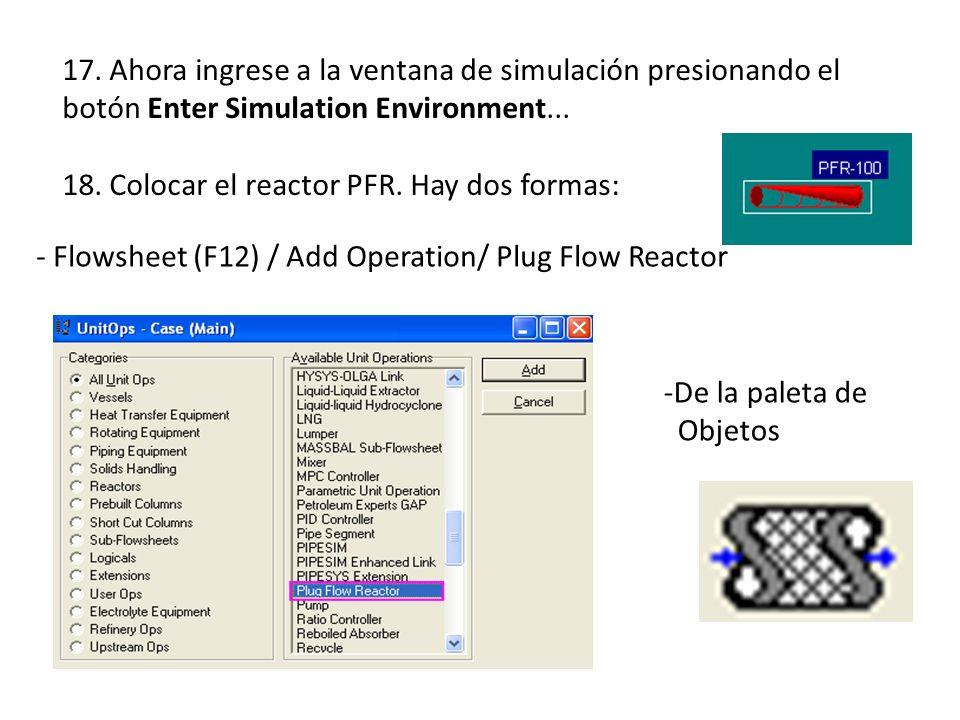 17. Ahora ingrese a la ventana de simulación presionando el botón Enter Simulation Environment...