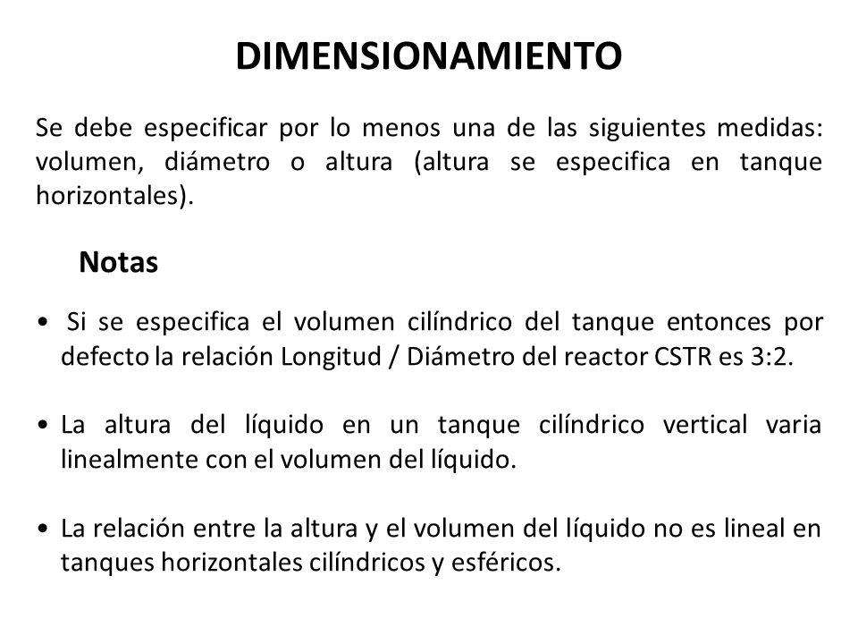 DIMENSIONAMIENTO Notas
