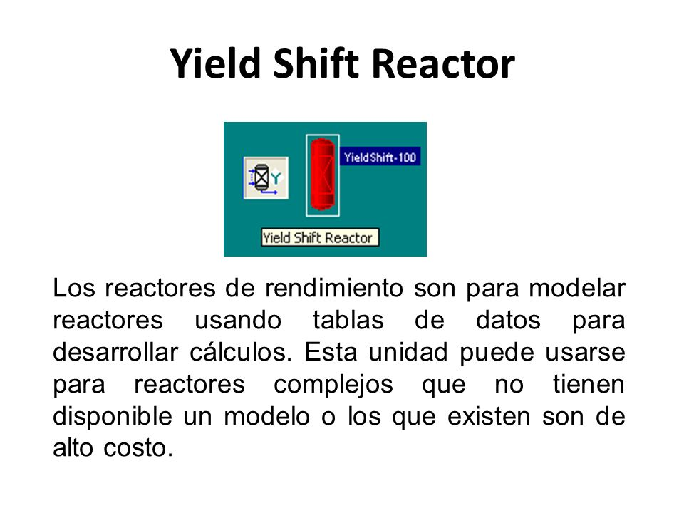 Yield Shift Reactor