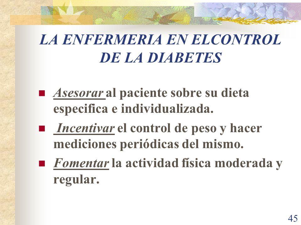 LA ENFERMERIA EN ELCONTROL DE LA DIABETES