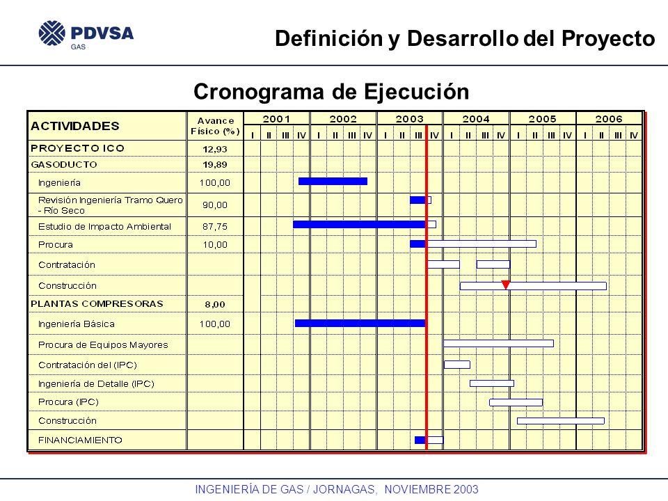 Definición y Desarrollo del Proyecto Cronograma de Ejecución