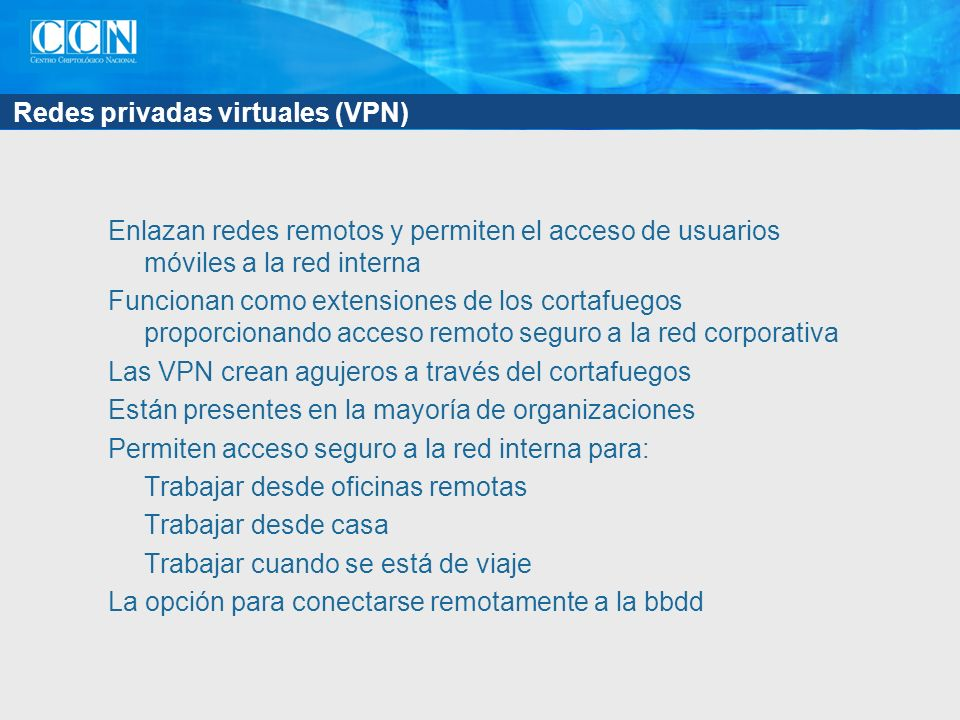 Redes privadas virtuales (VPN)