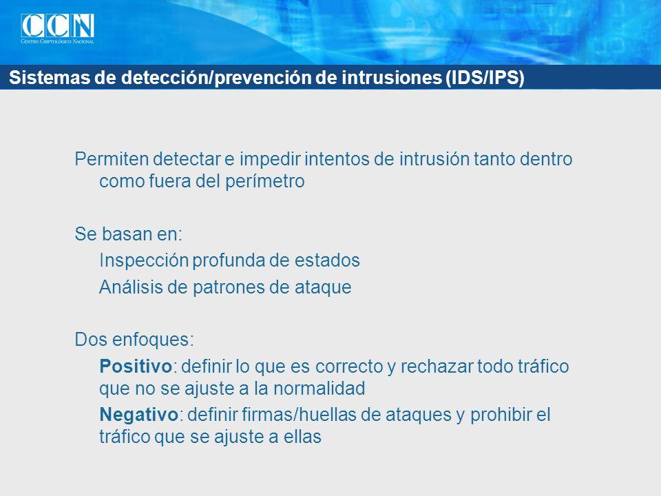 Sistemas de detección/prevención de intrusiones (IDS/IPS)