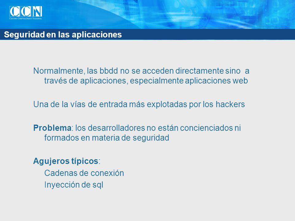 Seguridad en las aplicaciones