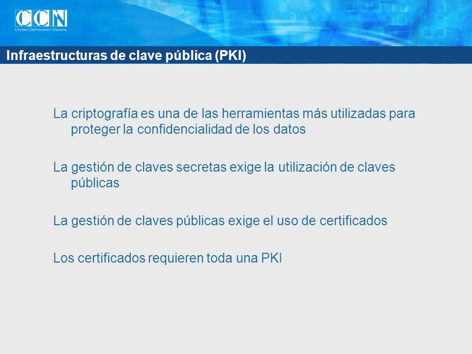 Infraestructuras de clave pública (PKI)