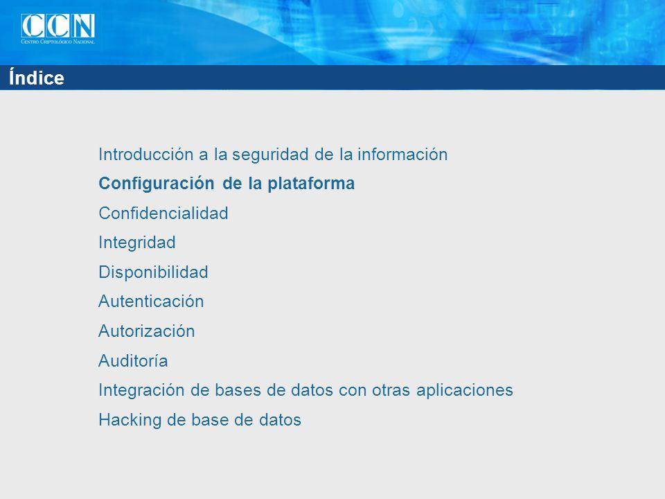 Índice Introducción a la seguridad de la información