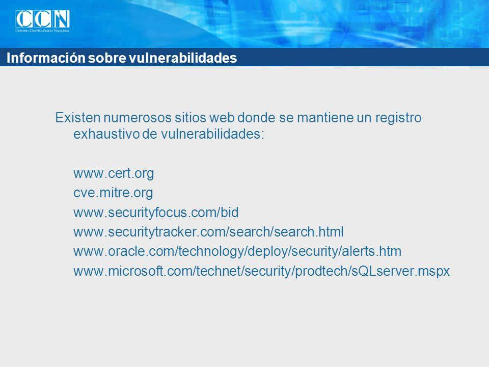 Información sobre vulnerabilidades