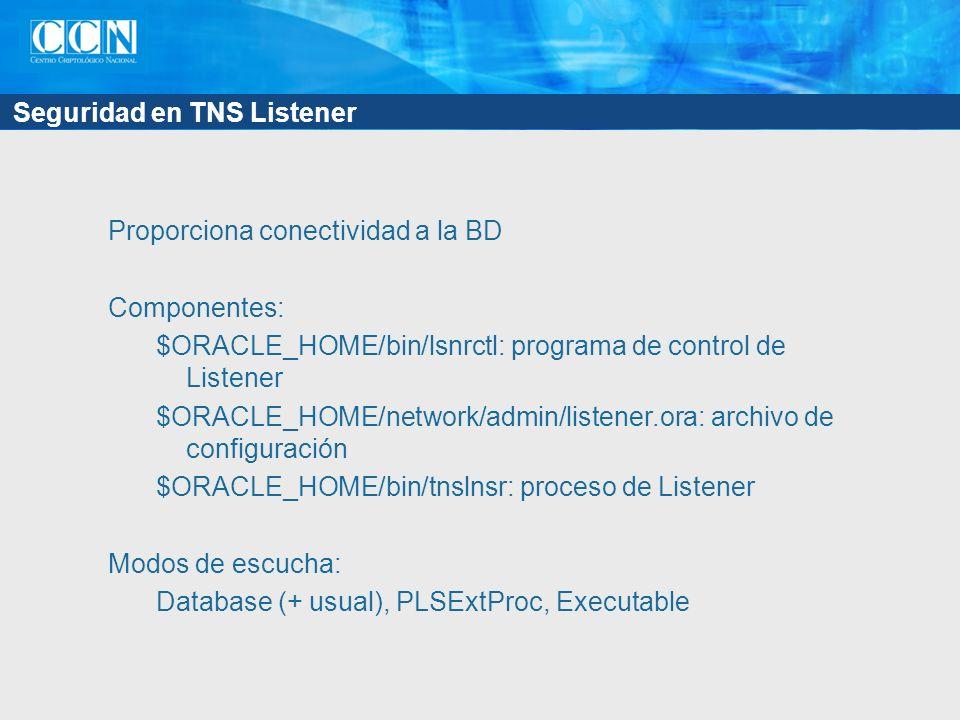 Seguridad en TNS Listener