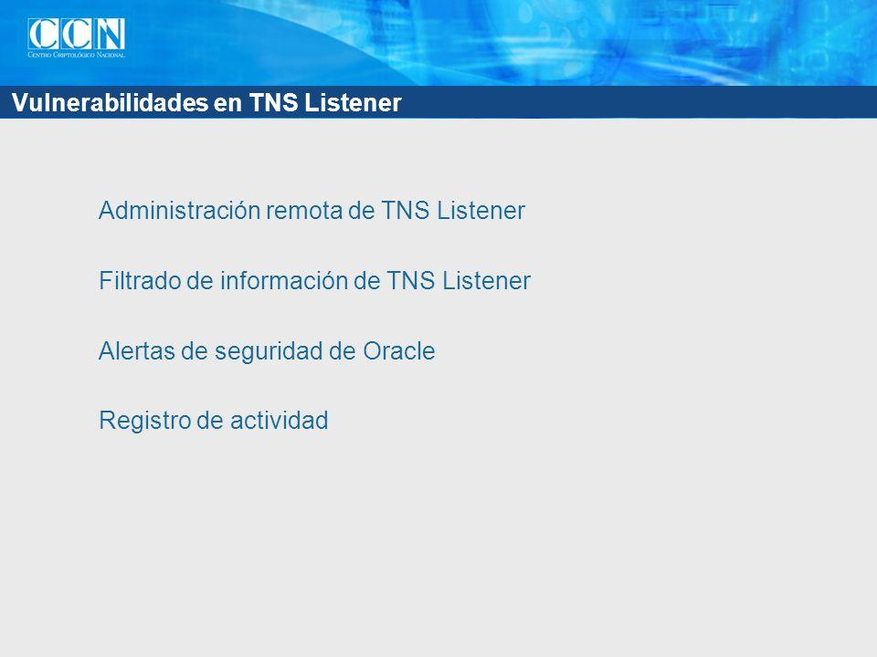 Vulnerabilidades en TNS Listener