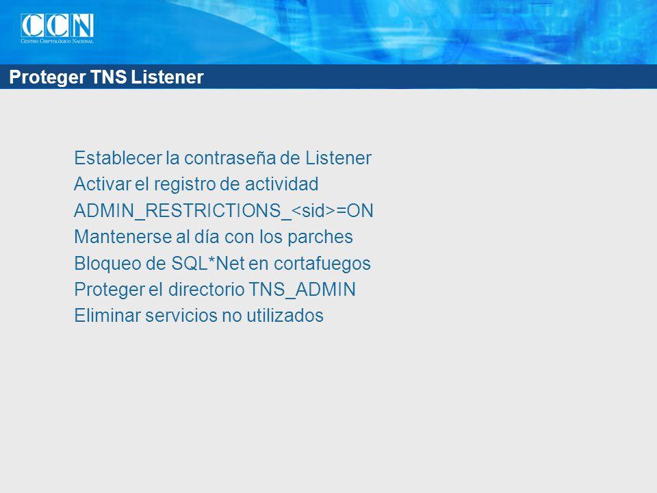 Proteger TNS Listener