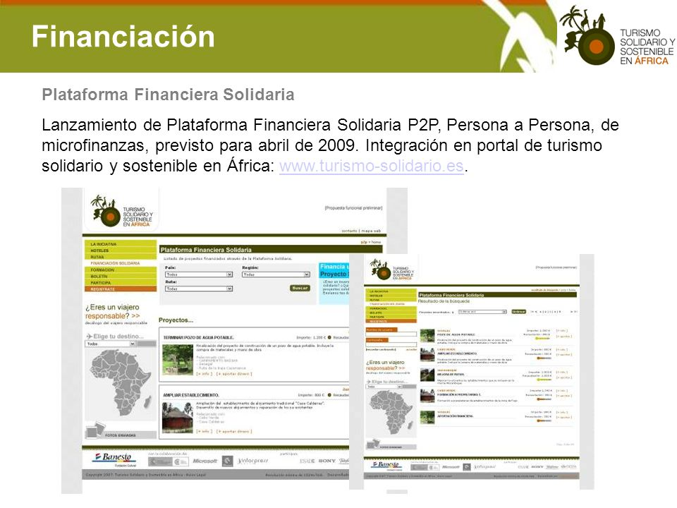 Financiación Plataforma Financiera Solidaria