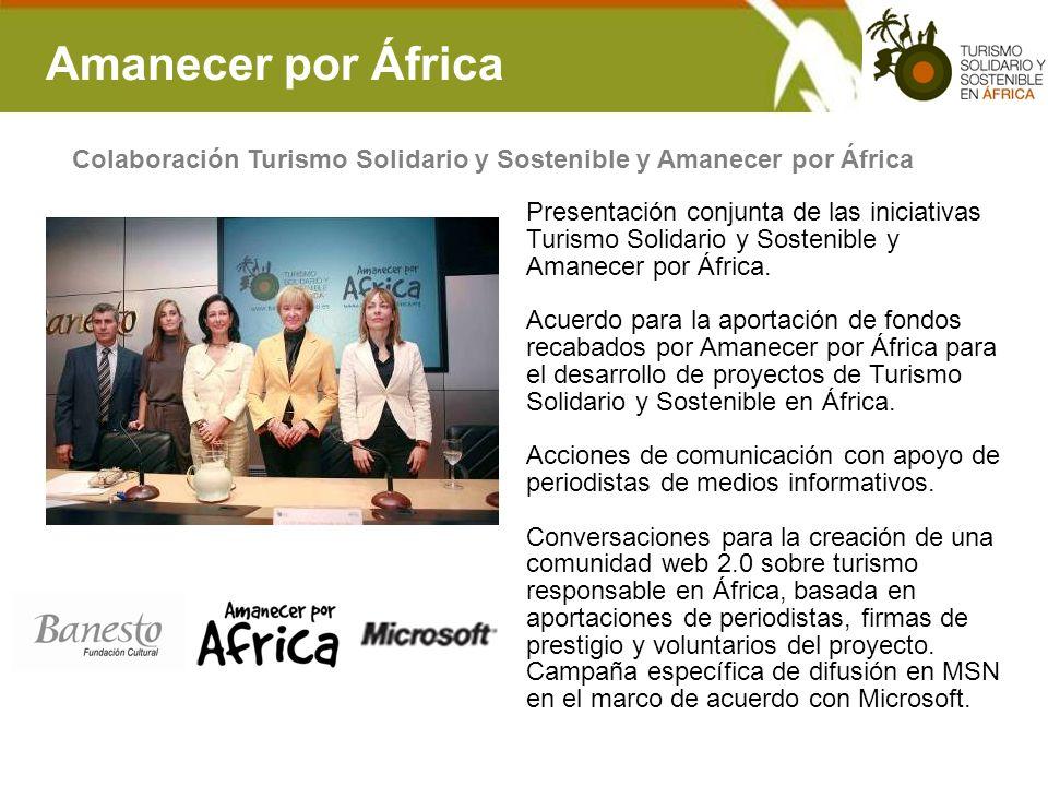 Amanecer por África Colaboración Turismo Solidario y Sostenible y Amanecer por África.