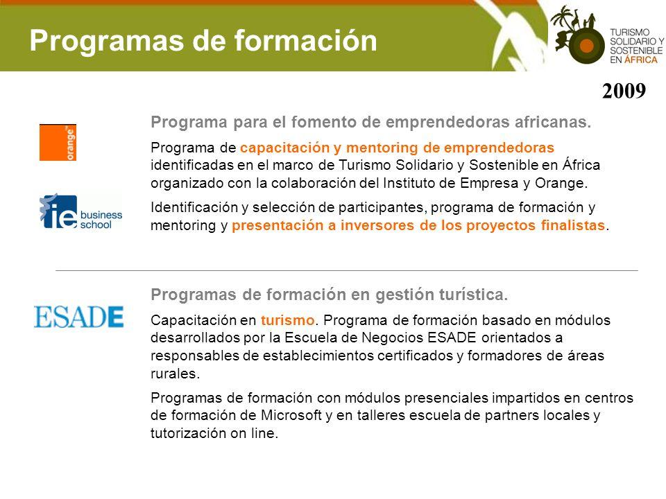 Programas de formación
