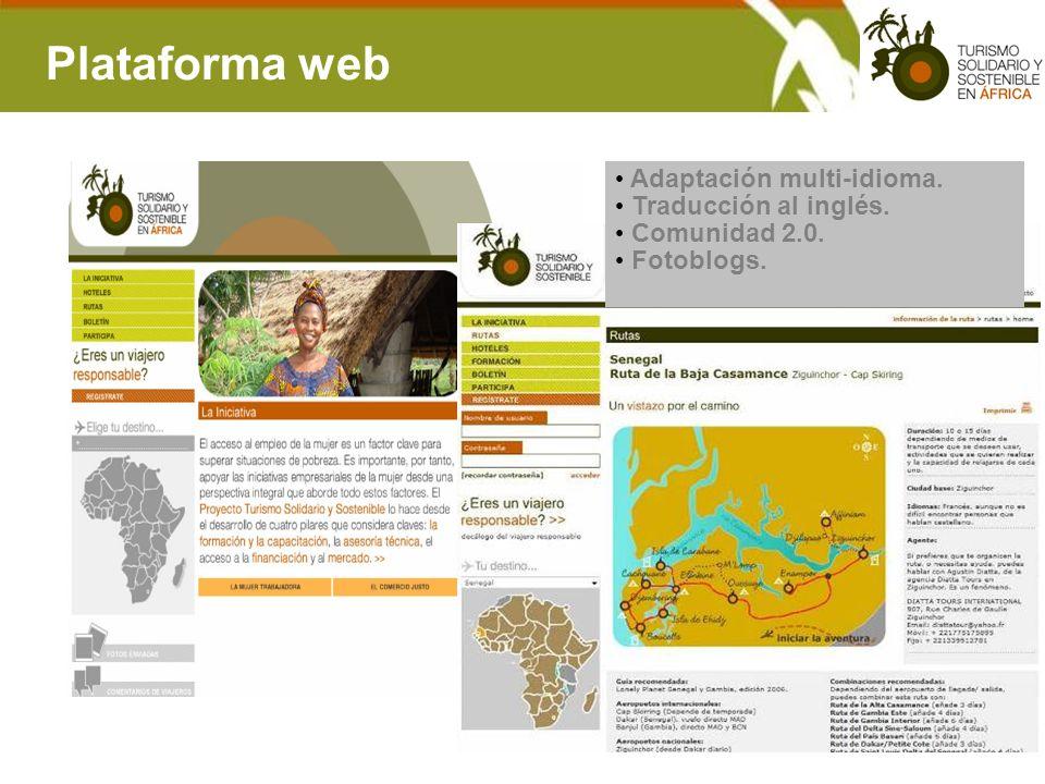 Plataforma web Adaptación multi-idioma. Traducción al inglés.