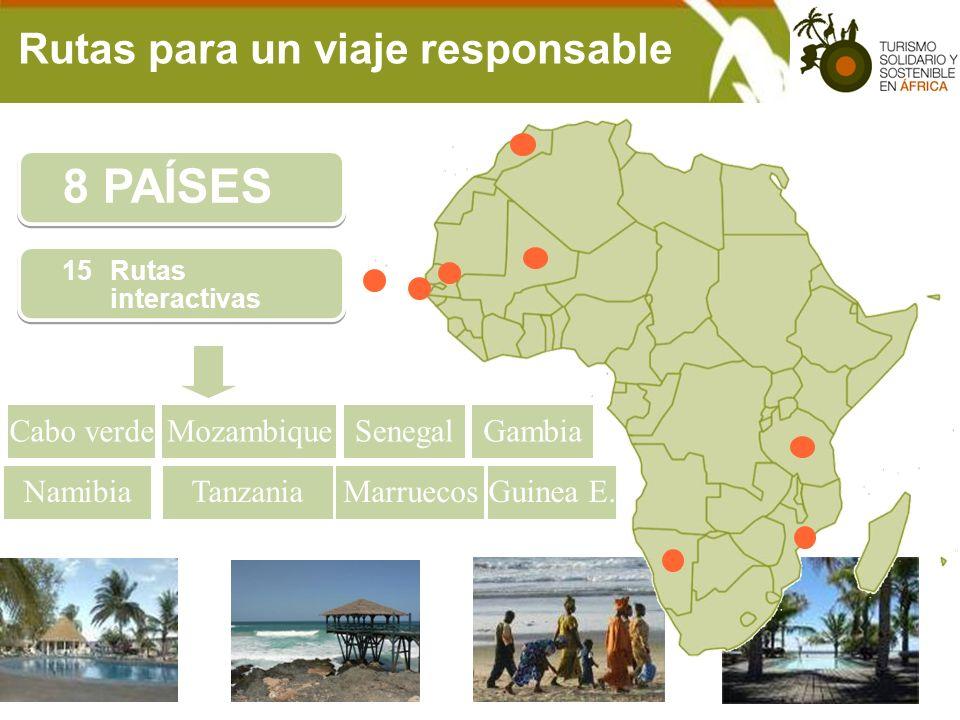 8 PAÍSES Rutas para un viaje responsable Cabo verde Mozambique Senegal
