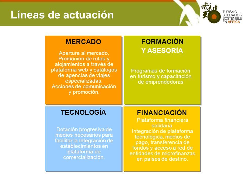 Líneas de actuación MERCADO FORMACIÓN Y ASESORÍA TECNOLOGÍA