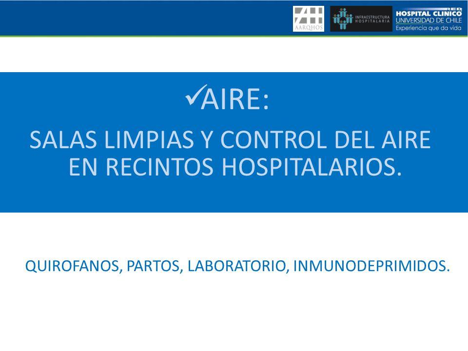 SALAS LIMPIAS Y CONTROL DEL AIRE EN RECINTOS HOSPITALARIOS.