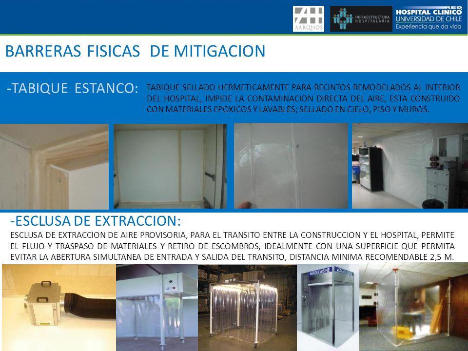 BARRERAS FISICAS DE MITIGACION