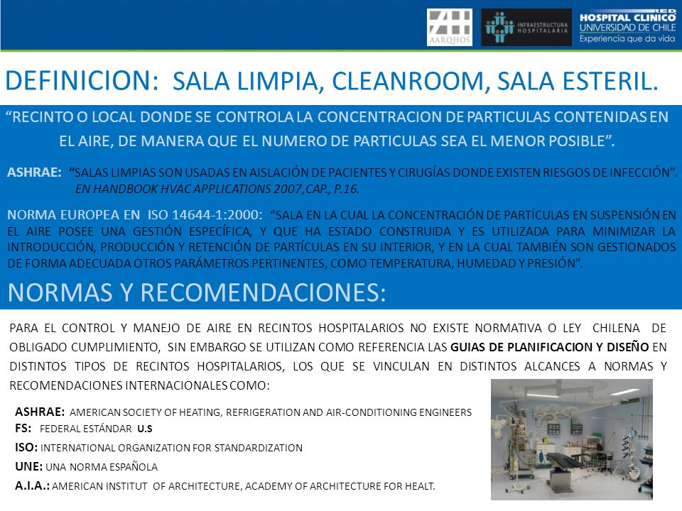 DEFINICION: SALA LIMPIA, CLEANROOM, SALA ESTERIL.
