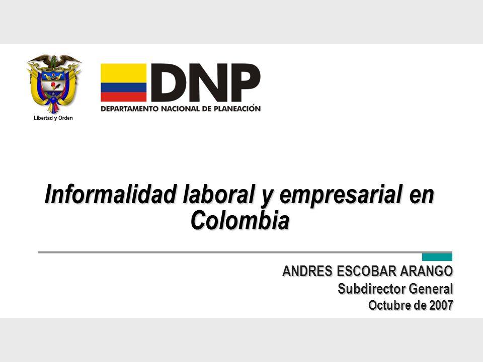 Informalidad laboral y empresarial en Colombia