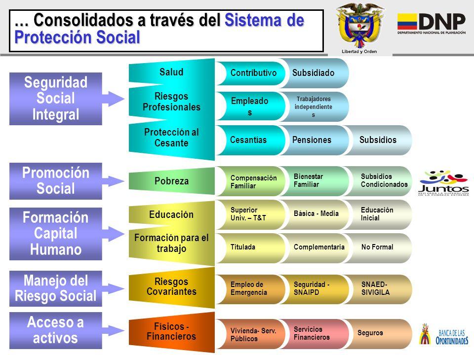 … Consolidados a través del Sistema de Protección Social
