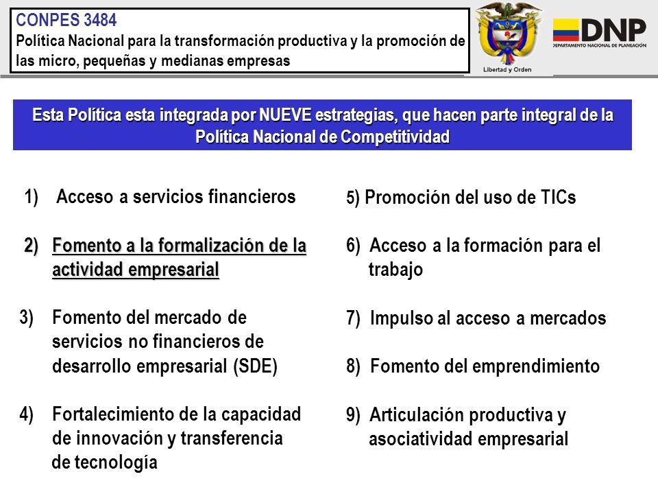 1) Acceso a servicios financieros