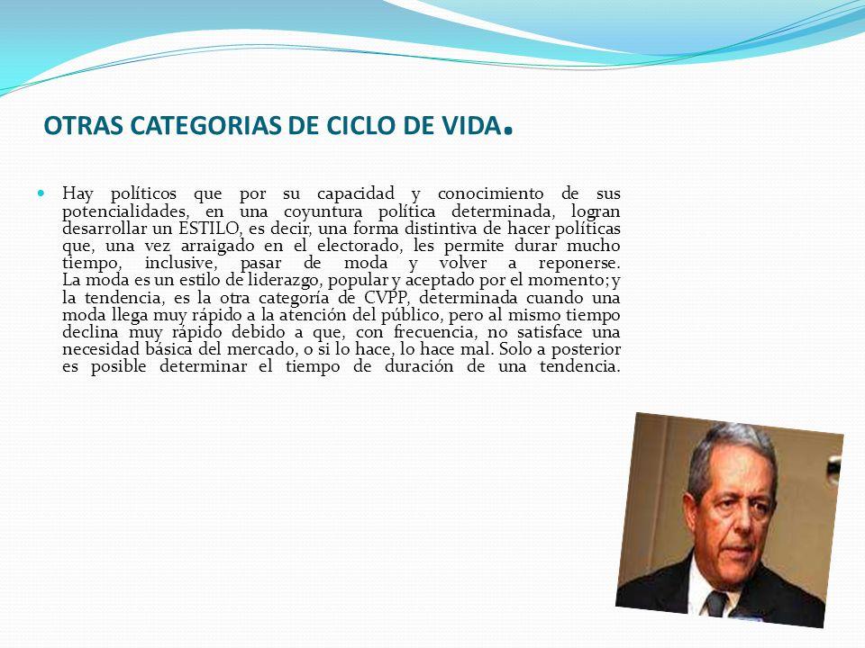 OTRAS CATEGORIAS DE CICLO DE VIDA.