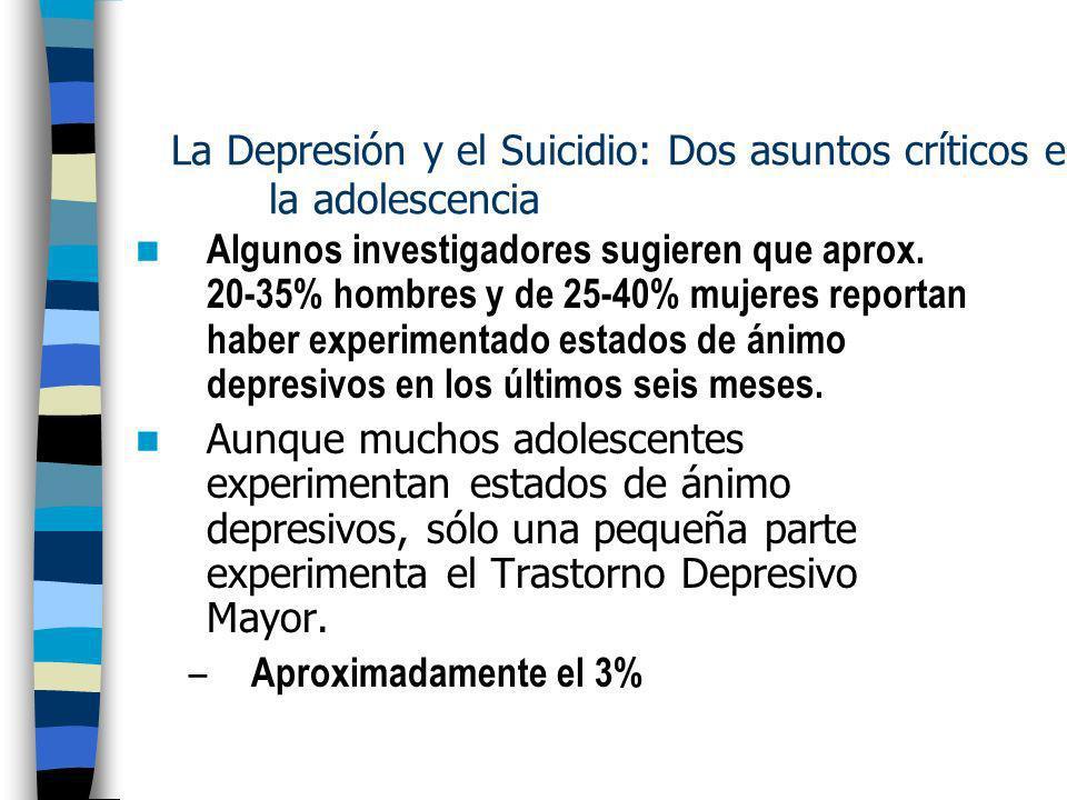 La Depresión y el Suicidio: Dos asuntos críticos en la adolescencia