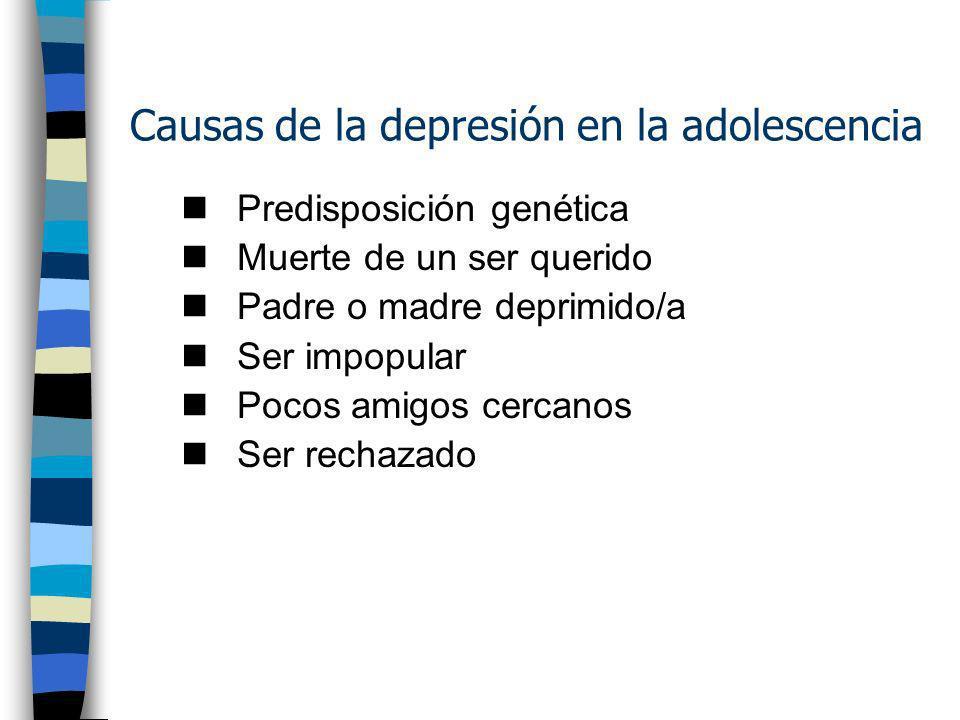 Causas de la depresión en la adolescencia