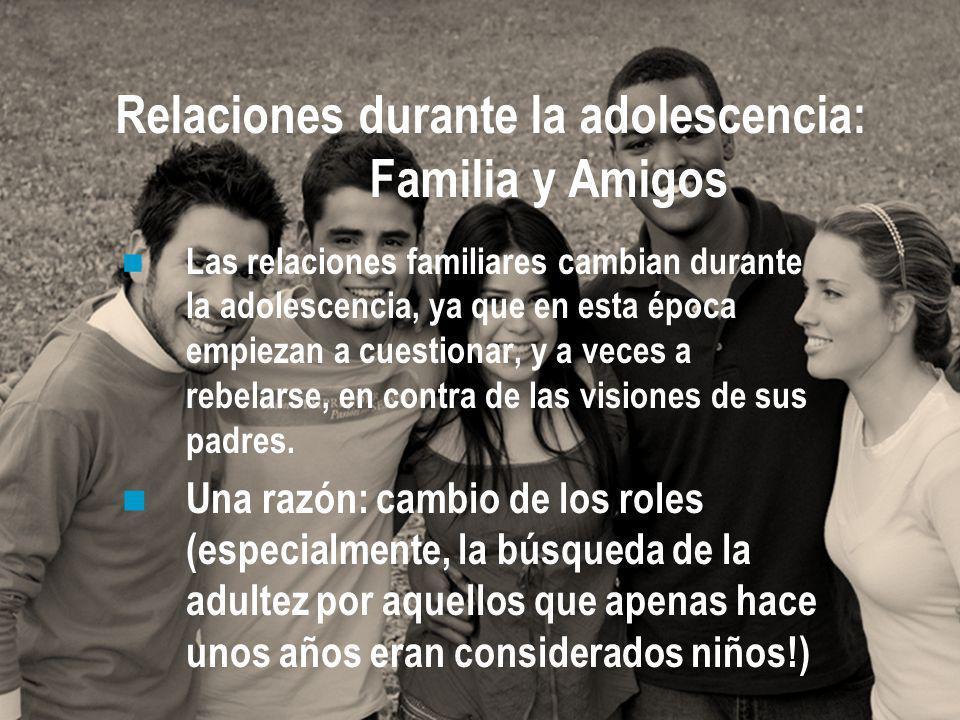 Relaciones durante la adolescencia: Familia y Amigos