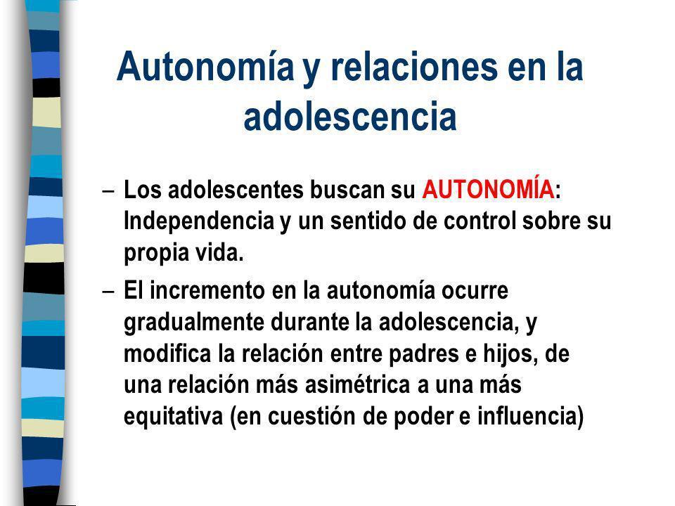 Autonomía y relaciones en la adolescencia