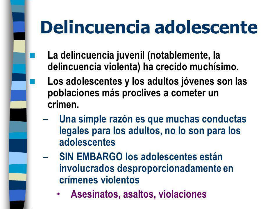 Delincuencia adolescente