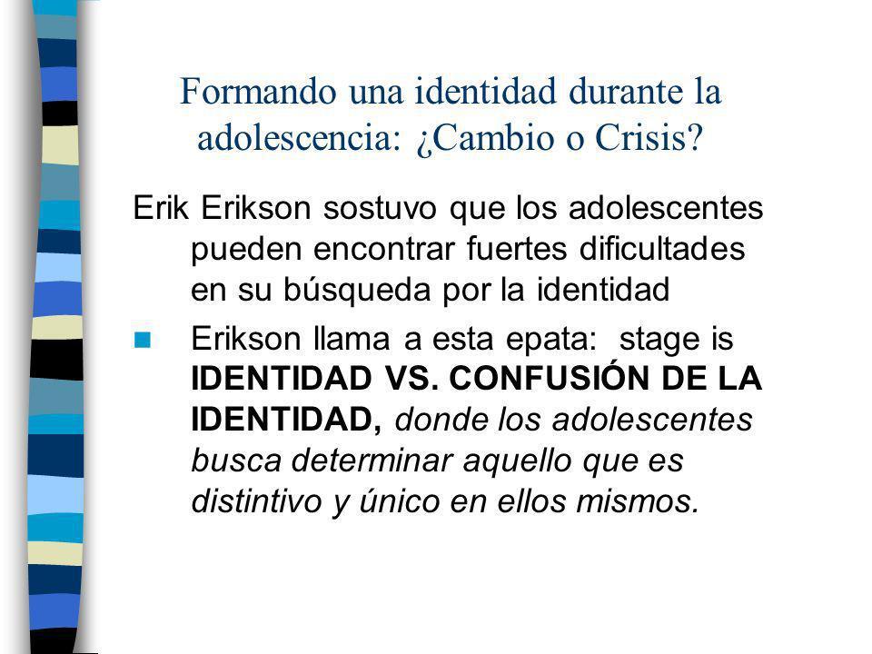 Formando una identidad durante la adolescencia: ¿Cambio o Crisis