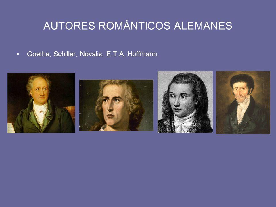 AUTORES ROMÁNTICOS ALEMANES