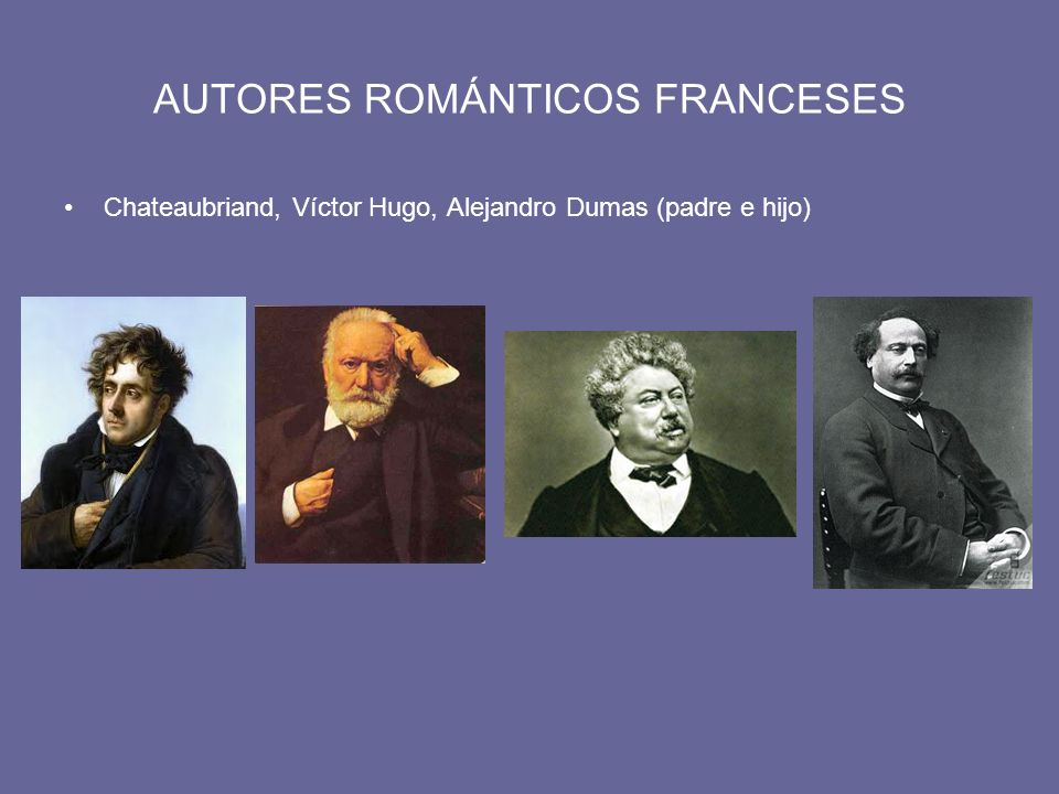 AUTORES ROMÁNTICOS FRANCESES