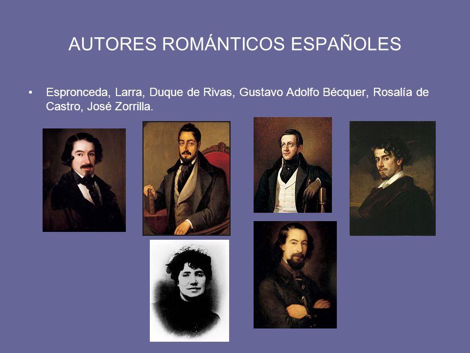 AUTORES ROMÁNTICOS ESPAÑOLES