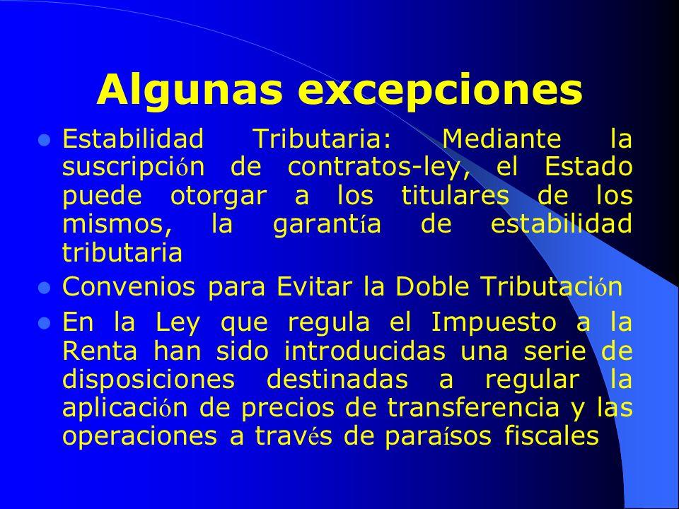 Algunas excepciones