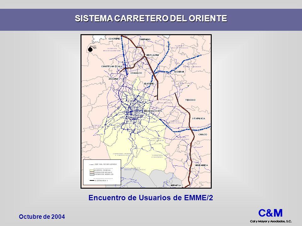 SISTEMA CARRETERO DEL ORIENTE Encuentro de Usuarios de EMME/2