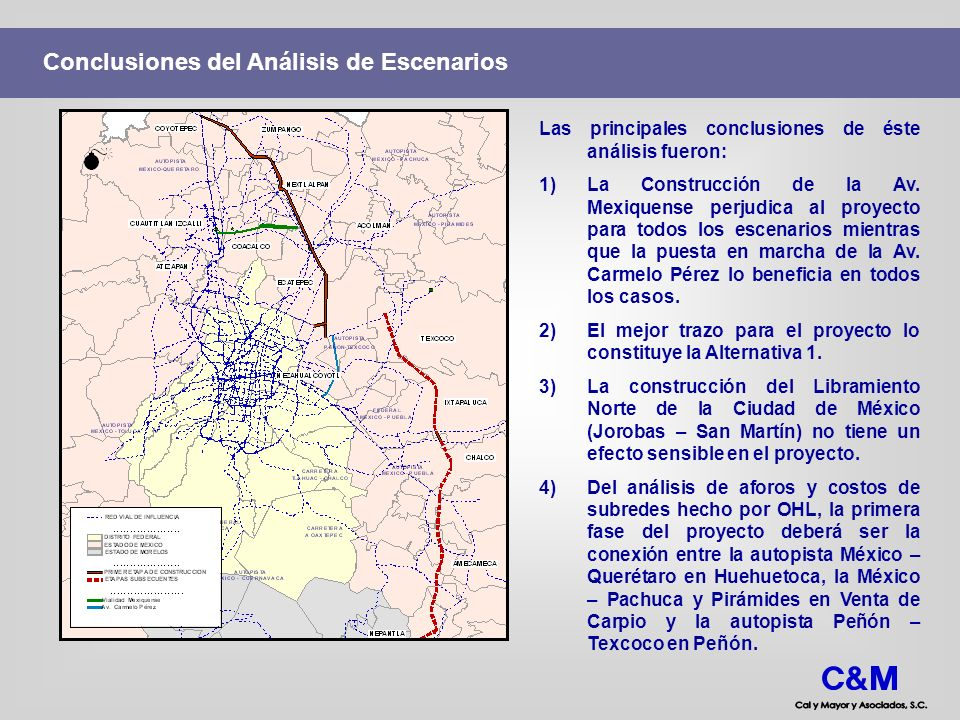 Conclusiones del Análisis de Escenarios