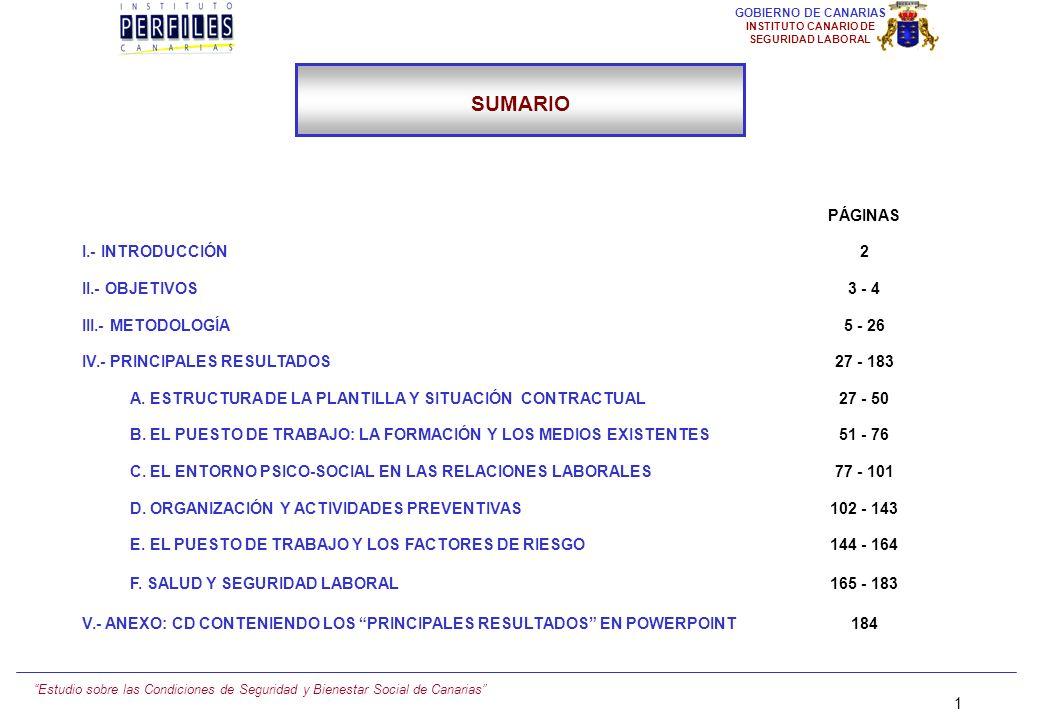 SUMARIO PÁGINAS I.- INTRODUCCIÓN 2 II.- OBJETIVOS 3 - 4