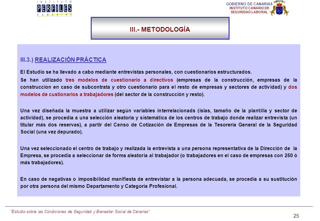 III.- METODOLOGÍA III.3.) REALIZACIÓN PRÁCTICA