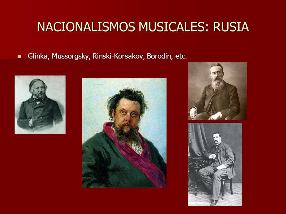 NACIONALISMOS MUSICALES: RUSIA