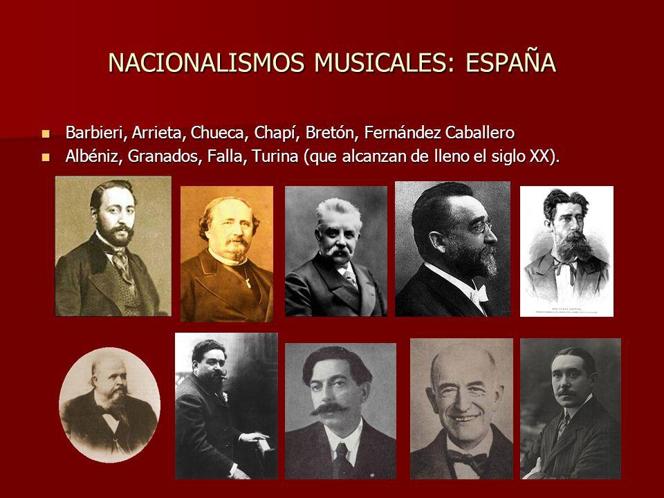 NACIONALISMOS MUSICALES: ESPAÑA
