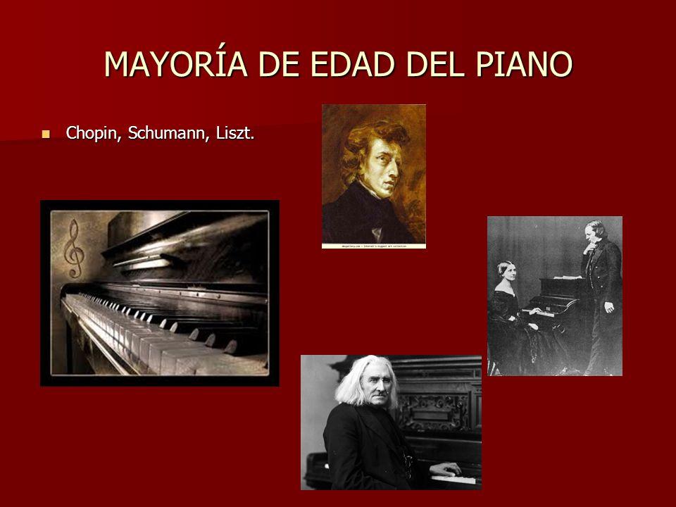 MAYORÍA DE EDAD DEL PIANO