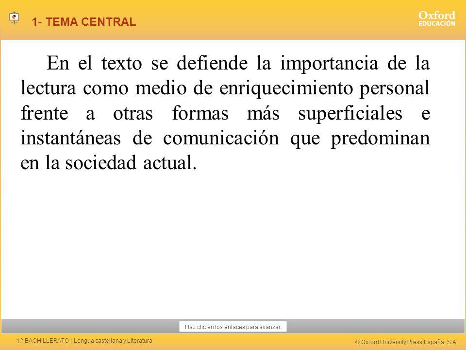 1- TEMA CENTRAL