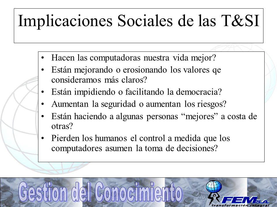 Implicaciones Sociales de las T&SI