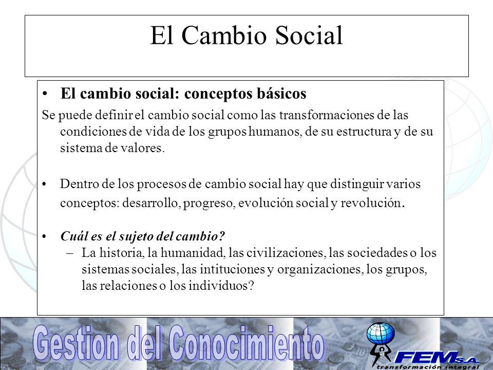 El Cambio Social El cambio social: conceptos básicos