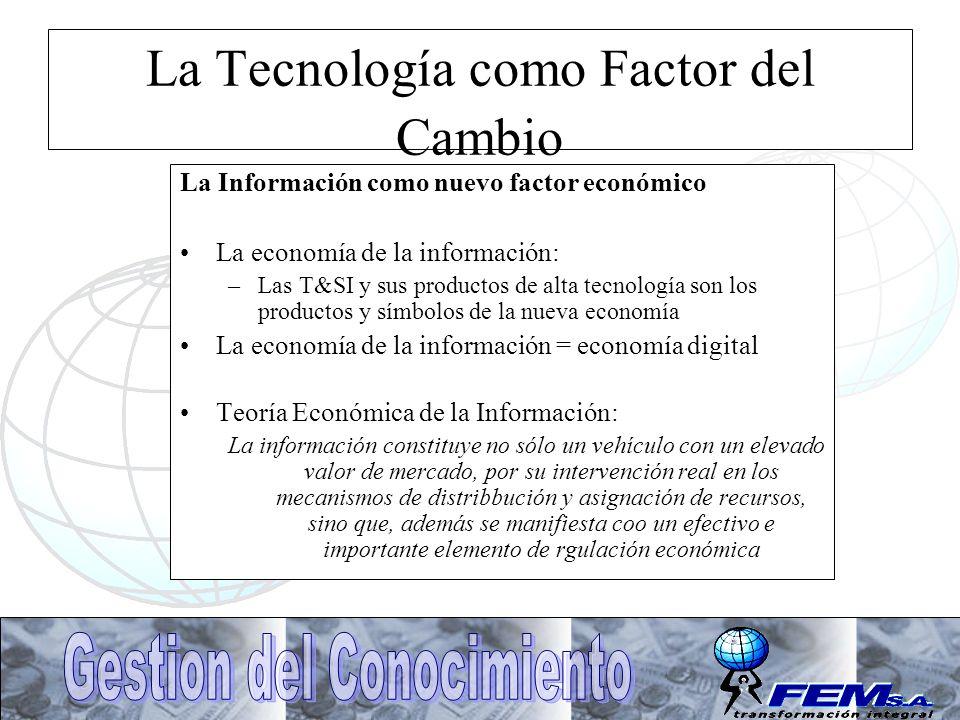 La Tecnología como Factor del Cambio