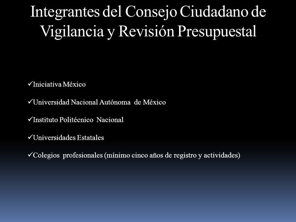 Integrantes del Consejo Ciudadano de Vigilancia y Revisión Presupuestal