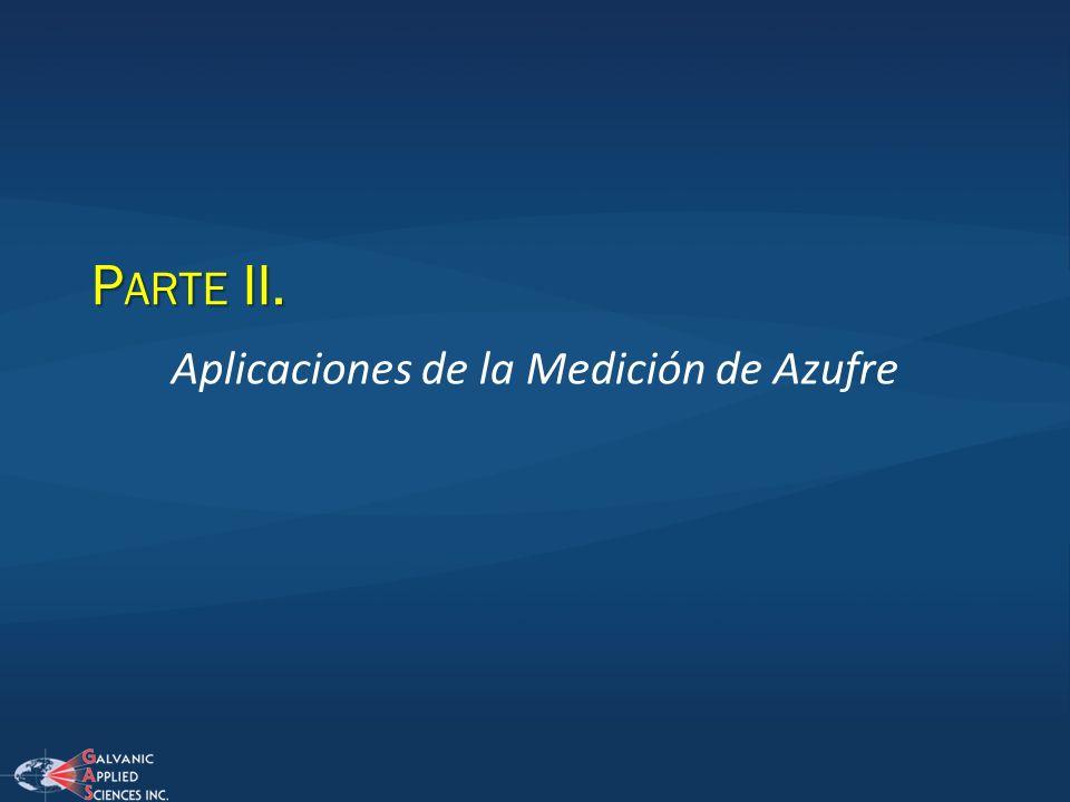 Aplicaciones de la Medición de Azufre